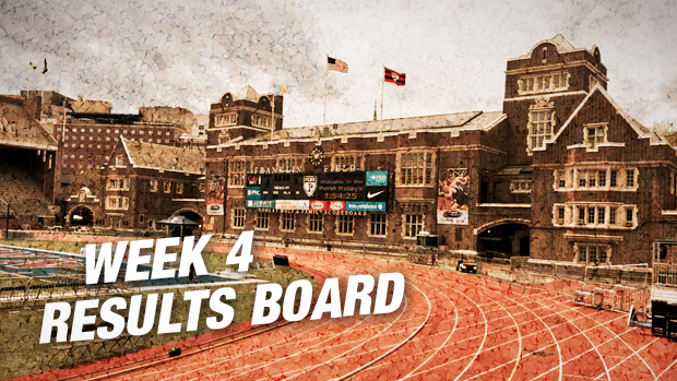 Week 4 Results Board Penn Relays And More