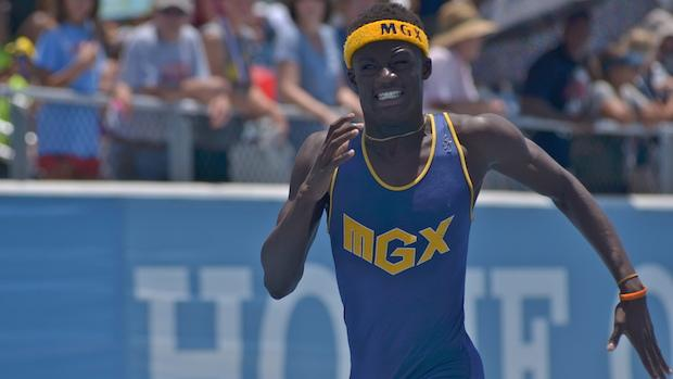 Tyrese Cooper is in eighth grade, but is already running high school and college-level times in the sprints.