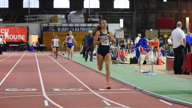 Kamryn McIntosh of Suffern, N.Y. ran US #2 2:06.00 800m, 54.39 400m and split 52.93 FAT to anchor the 4x400m.