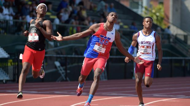 Noah Lyles swept the 100m and 200m at USATF Junior Nationals in Eugene, Ore. in June.